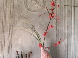 Trumeau de cheminée : sculpture en céramique artisanale en grès