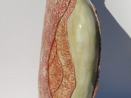 Sculpture artisanale unique, vase opposition des matières